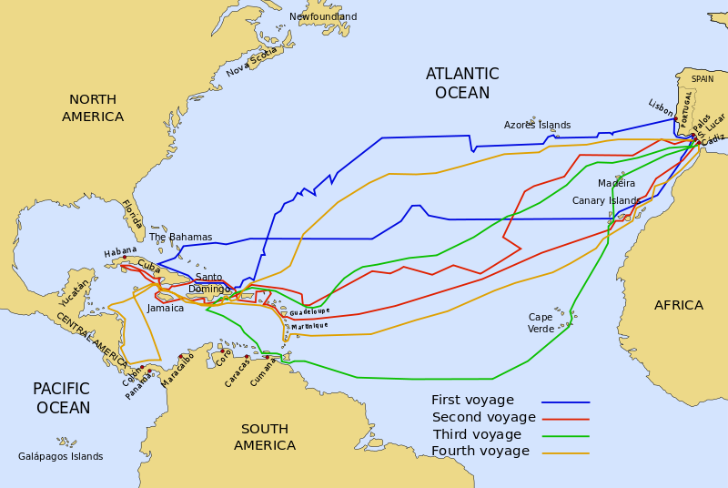 Columbus sine 4 sjøreiser