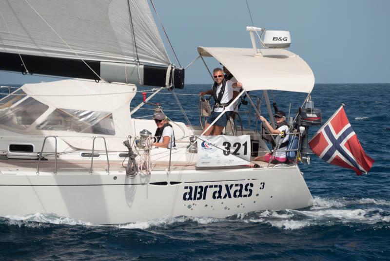 Abraxas 3, en X50 med gode seilere. Feltets kanskje raskeste enskrogsbåt