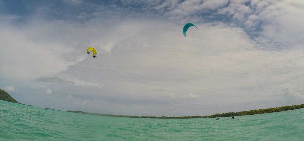 Endelig begynte vi å kite på egenhånd