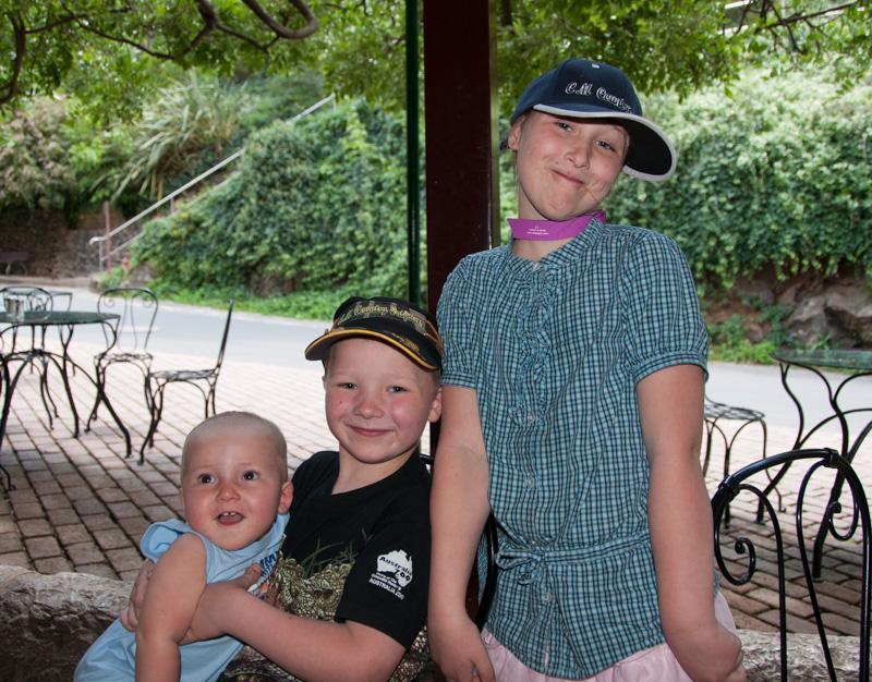 Sist vi var i Australia ble yngstemann 1 år, mens storebror var nesten 7 år og storesøster hadde blitt 9 år
